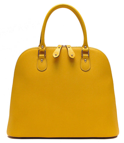 FLOTO Ragazza Leather Dome Satchel Yellow