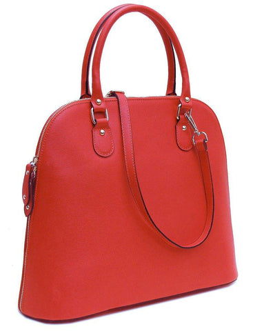 FLOTO Ragazza Leather Dome Satchel Red-Designer Online