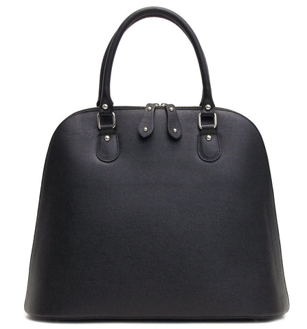 FLOTO Ragazza Leather Dome Satchel Black