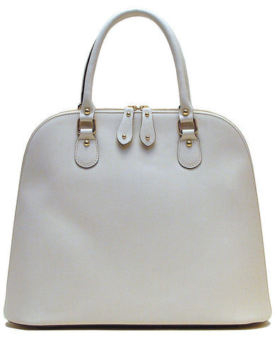 FLOTO Ragazza Leather Dome Satchel Ivory