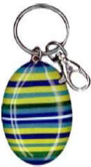Resin Keyring Green Stripe