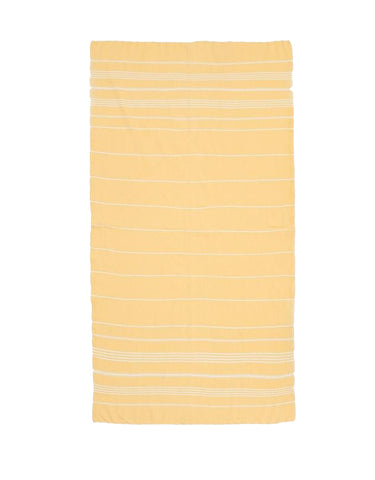 Miz Casa & Co French Riviera Turkish Towel Lemon Yellow