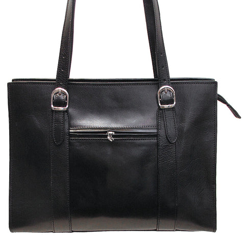 FLOTO Roma Leather Shoulder Bag Black