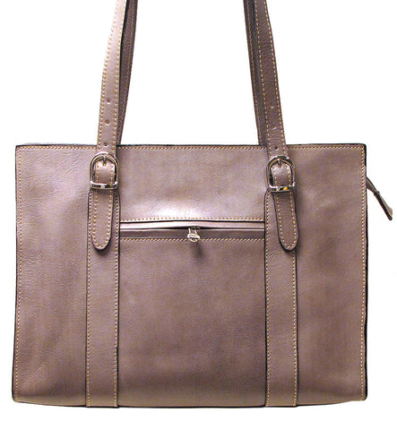 FLOTO Roma Leather Shoulder Bag Grey