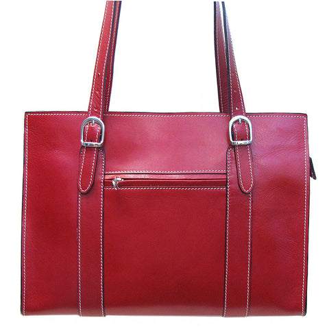 FLOTO Roma Leather Shoulder Bag Tuscan Red
