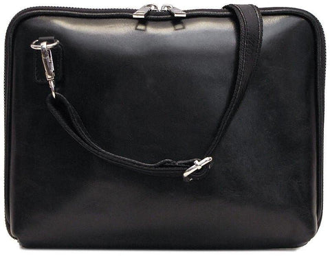 FLOTO Roma Leather Tablet Bag Black