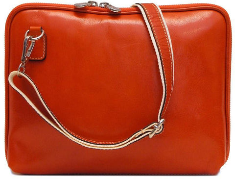 FLOTO Roma Leather Tablet Bag Orange