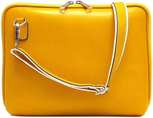 FLOTO Roma Leather Tablet Bag Yellow