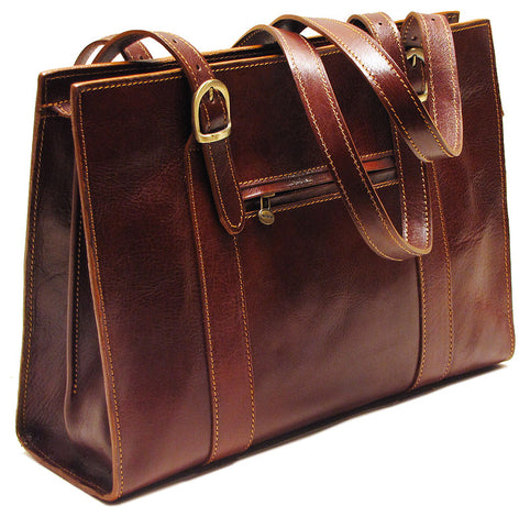 FLOTO Roma Leather Shoulder Bag Vecchio Brown