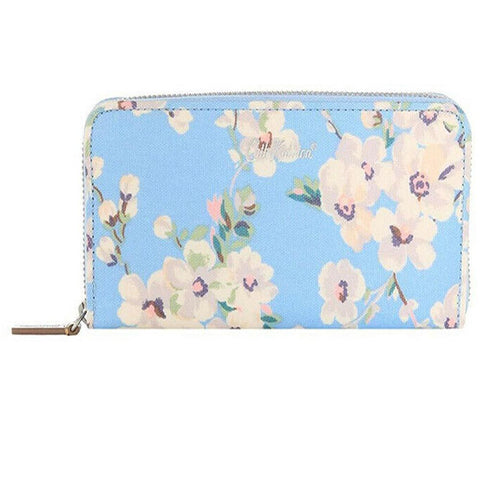 Cath Kidston Continental Women's Zip Wallet Wellesley Blossom Soft Blue 752121