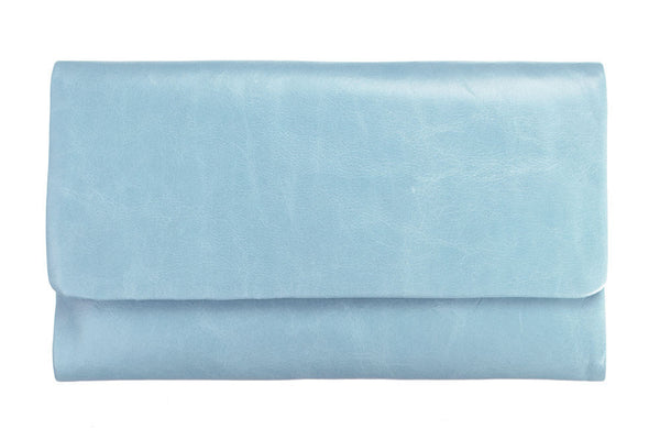 STATUS ANXIETY Audrey Leather Wallet Sky Blue