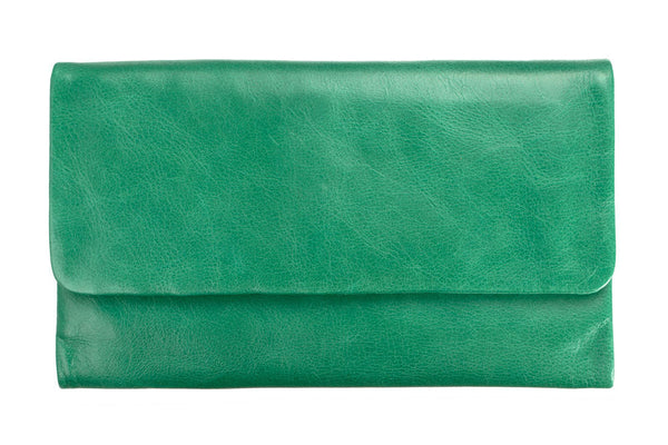 STATUS ANXIETY Audrey Leather Wallet Emerald