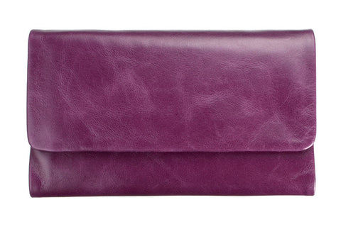 STATUS ANXIETY Audrey Leather Wallet Purple