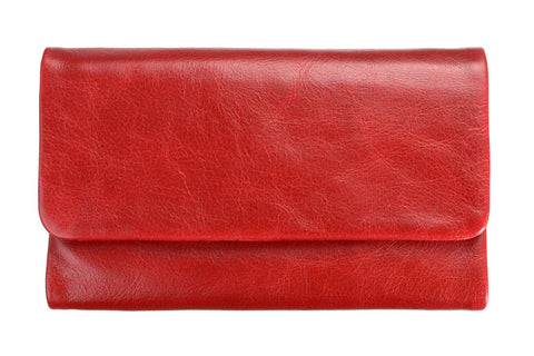 STATUS ANXIETY Audrey Leather Wallet Red