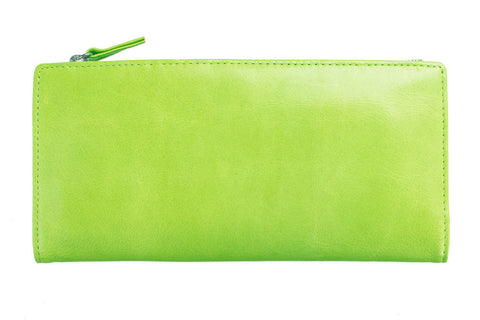 STATUS ANXIETY Dakota Leather Wallet Lime Green