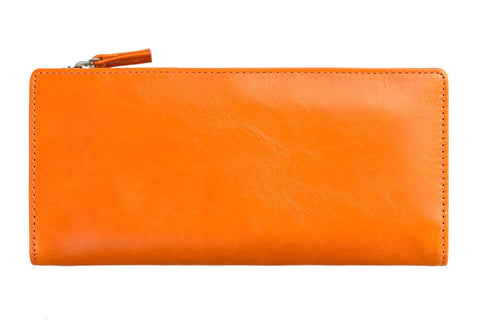 STATUS ANXIETY Dakota Leather Wallet Burnt Orange