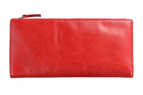 STATUS ANXIETY Dakota Leather Wallet Red