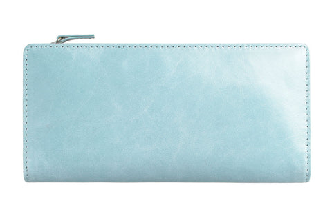 STATUS ANXIETY Dakota Leather Wallet Sky Blue