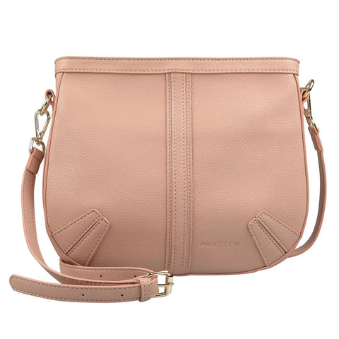 PRATTEN Saddle Shoulder Bag Nude Pink