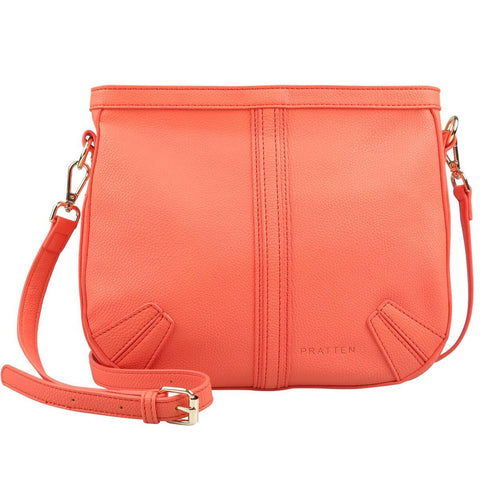 PRATTEN Saddle Shoulder Bag Orange