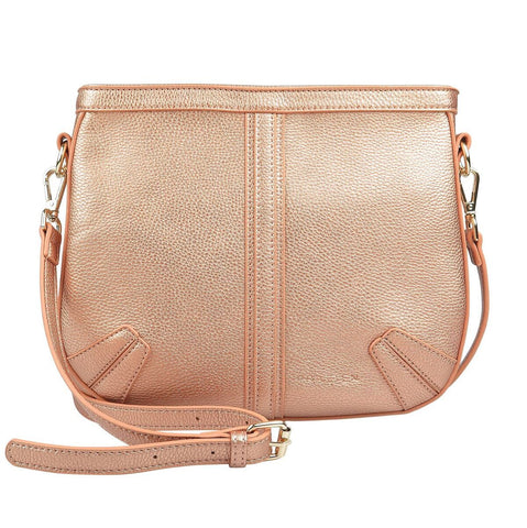 PRATTEN Saddle Shoulder Bag Rose Gold
