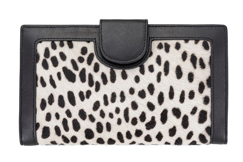 STATUS ANXIETY Doris Leather Wallet Snow Cheetah