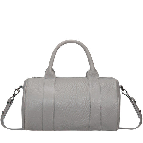 STATUS ANXIETY Kingdoms and Oaths Leather Bowler Bag Cement Grey FREE WALLET