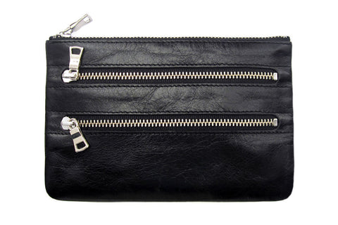 STATUS ANXIETY Molly Leather Wallet Black