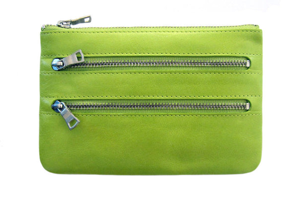 STATUS ANXIETY Molly Leather Wallet Lime Green