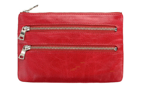 STATUS ANXIETY Molly Leather Wallet Red