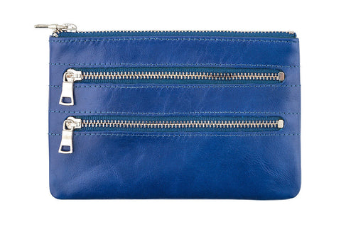 STATUS ANXIETY Molly Leather Wallet Royal Blue
