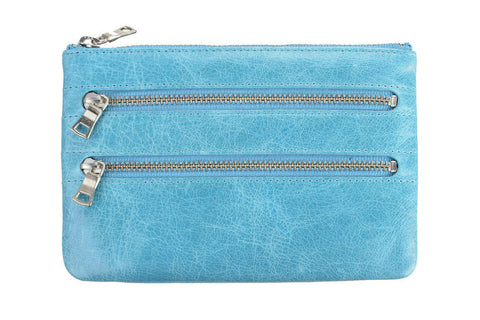STATUS ANXIETY Molly Leather Wallet Sky Blue