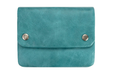 STATUS ANXIETY Norma Leather Wallet Aqua