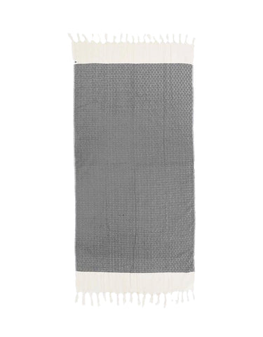 Miz Casa & Co Santorini Turkish Towel Navy Blue
