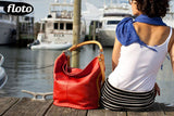 FLOTO Sardinia Leather Hobo Bag Red
