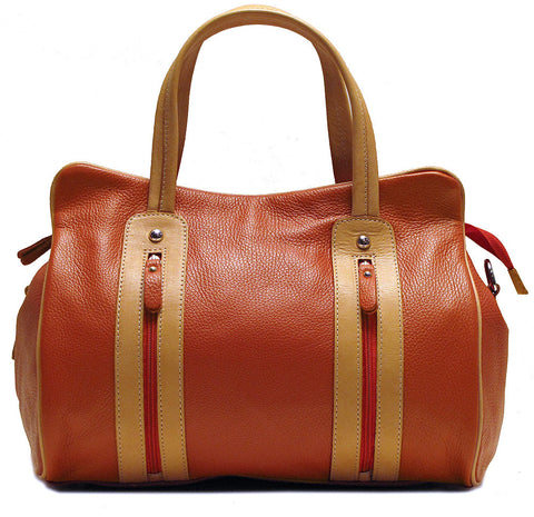 FLOTO Sardinia Leather Bag Sunset Orange