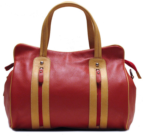 FLOTO Sardinia Leather Bag Red