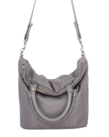 STATUS ANXIETY Some Secret Place Leather Tote Bag Grey FREE WALLET