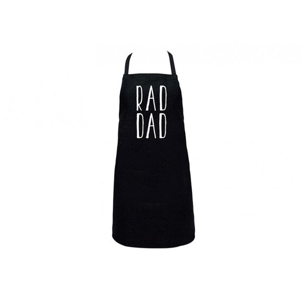 Rad Dad Black Screenprint Apron