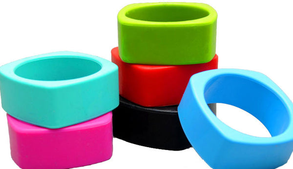 Silicone Square Teething Bangle