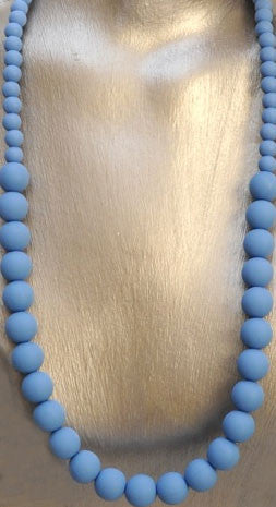 Silicone Pearl Bead Teething Necklace