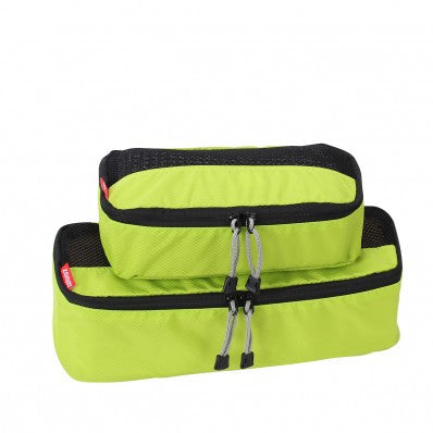 ZOOMLITE Slim Packing Cubes - 2 Piece Set - Lime