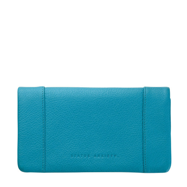 STATUS ANXIETY SOME TYPE OF LOVE WALLET POOL BLUE