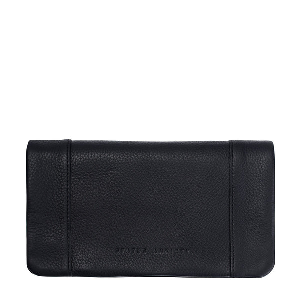 STATUS ANXIETY Some Type of Love Leather Wallet Black