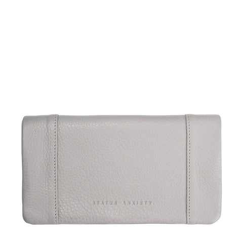STATUS ANXIETY Some Type of Love Leather Wallet Cement Grey