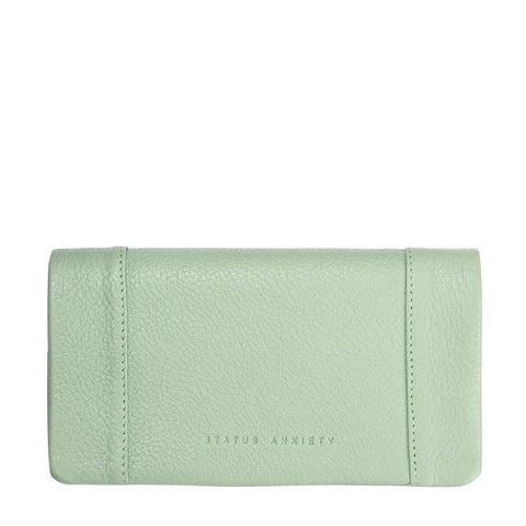 STATUS ANXIETY Some Type of Love Leather Wallet Mint Green