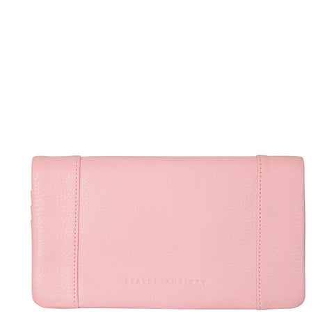 STATUS ANXIETY Some Type of Love Leather Wallet Soft Pink