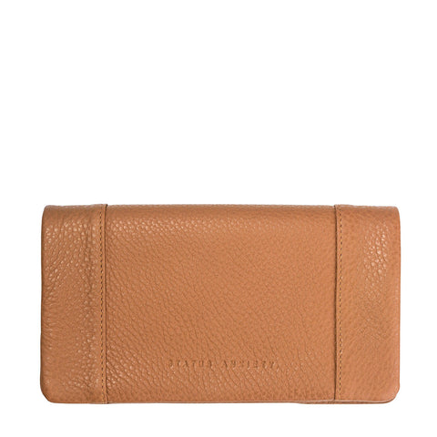 STATUS ANXIETY Some Type of Love Leather Wallet Tan