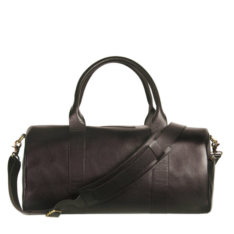 STATUS ANXIETY SUCCESSION LEATHER DUFFLE CHOCOLATE BROWN WITH FREE WALLET