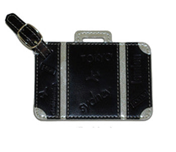 Suitcase Luggage Tag Black